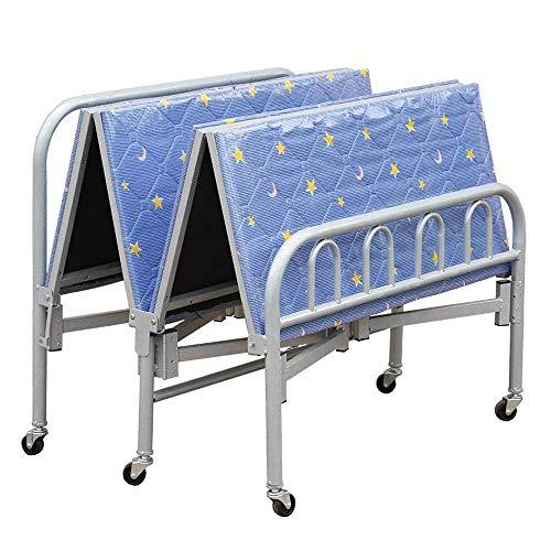 ShiSyan Plegable de metal cama - multifunción cama plegable, cama sencilla, oficina, cama individual, cama de hospital escolta, el descanso dormitorio, cómodo sillón reclinable de hierro forjado Silla