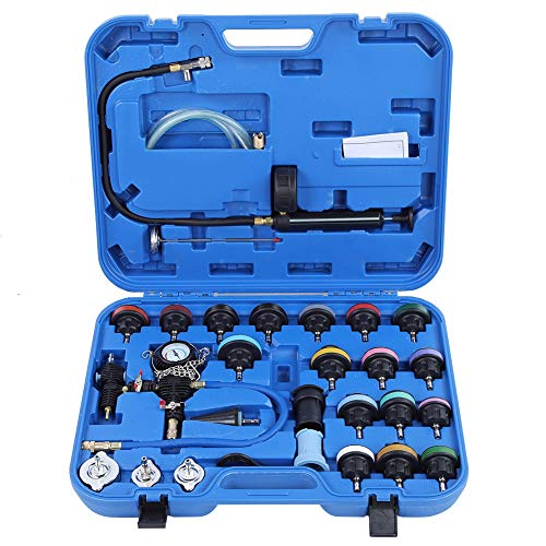 Best Review Of Leak Tester Kit, 28pcs Universal Car Water Tank Leak Tester Cooling System Detector T...