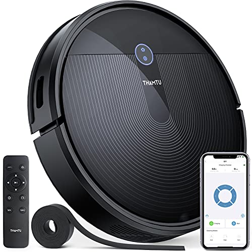 Thamtu G11 Robot Vacuum Cleaner with New Generation of Dynamic Navigation, 150Min Runtime, 2500Pa Suction with Voice Prompt, Slim, Quiet Cleaning, Good for Pet Hairs, Hard Floor, Medium-Pile Carpet