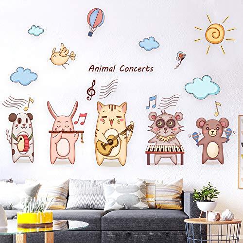 Wandaufkleber mit Cartoon-Motiv, für Schlafzimmer, Schlafzimmer, Schlafzimmer, Dekoration, selbstklebend, kleines Muster, 60 x 90 cm
