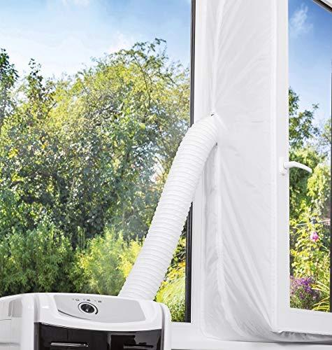 Faburo Fensterabdichtung für Mobile Klimageräte 400cm Fensterabdichtung Klimaanlagen Ablufttrockner Wäschetrockner 400cm Hot Air Stop Geeignet für Fenster Dachfenster