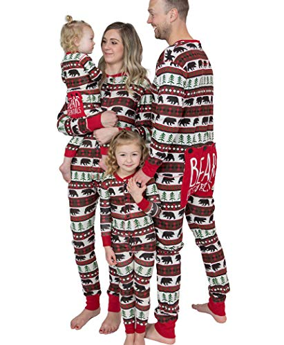 LazyOne Flapjacks, Pajamas for The Dog, Baby & Kids, Teens, and Adults, One Piece Pajamas, Family Matching Pajamas, Jammies (Bear Fair Isle, Large)