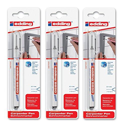 edding 4-8850-1-4001 Spezialmarker 8850 Bohrloch pen DIY, 0.7-1 mm, schwarz (3)