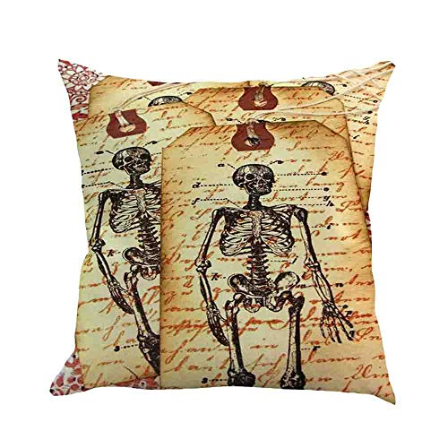 Lowprofile Words Pillowcase Halloween Ghost Pillow Cover Sofa Waist Throwing Pad Set Home DecorGothic Style 45x45/18x18 inches