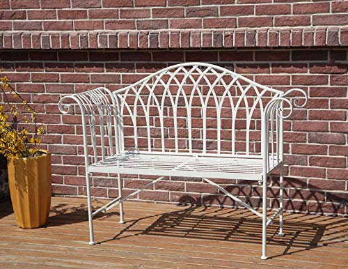Prime Westwood 2 Seater Garden Bench Metal Steel Ornate Antique Rustic Vintage Style Park Patio Outdoor Furniture Seat Chair White Mgb03 Ibusinesslaw Wood Chair Design Ideas Ibusinesslaworg