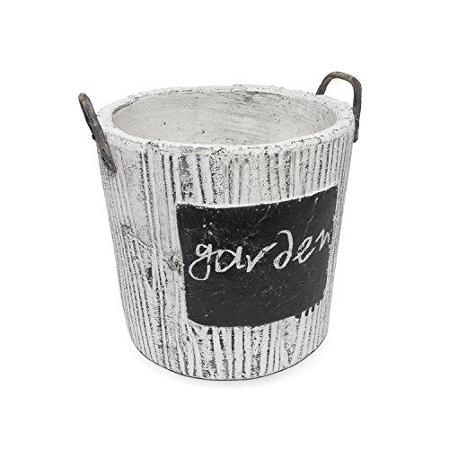 Vaso in ceramica con maniglie serie RUSTIC di Polnix, altezza 15 cm colore: grigio