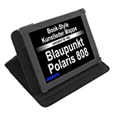 foto-kontor Tasche für Blaupunkt Polaris 808 Polaris 803 Book Style Schutz Hülle Buch schwarz