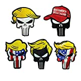 Trump American Flag Punisher Skull Patch...