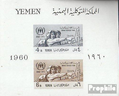 Mejor precio Prophila Collection Yemen del Norte Norte Norte (Arabes repúclica.) Bloque 1 (Completa.edición.) 1960 Refugiados (Sellos para los coleccionistas)  de moda