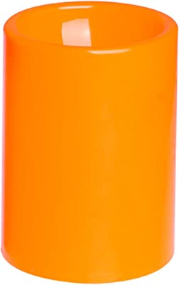 GiveU Flameless Led Timer Battery Operated Plastic Pillar Candle, 3 X 4, Orange