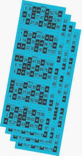 Desconocido 540 Cartones de Bingo troquelados Color Azul