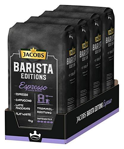 Jacobs Barista Editions Espresso, Bohnenkaffee, ganze Bohnen, Röstkaffee, Kaffeebohnen, 4 x 1000 g