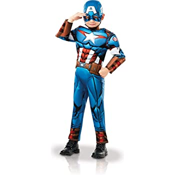 Rubies 640833M Marvel Avengers Capitán América Deluxe - Disfraz ...