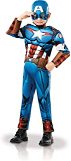 Rubie's 640833M Official Marvel Avengers Captain America Deluxe Child Costume, Boys, Medium Age 5-6, Height 116 cm