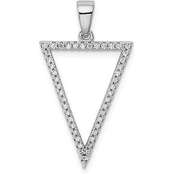 Sterling Silver Vibrant Synthetic CZ Fancy Knot Pendant