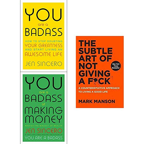 You Are a Badass, at Making Money, Subtle Art of Not Giving a Fck [Hardcover] 3 Books Collection Set