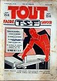 TOUT FAIRE SAVOIR [No 449] du 22/01/1933 - VOUS POUVEZ FABRIQUER UNE PRESSE POUR TABLE OU ETABLI - LES INVENTIONS DE NOS LECTEURS - LES PLANS D'UN BAHUT ORIGINAL - L'EMPLOI DES BOUTONS A BOIS - LA T.S.F. - LES DIVERS MODELES DE NOEUDS ET D'AMARRAGES