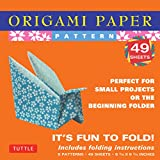 """Origami Paper - Patterns - Small 6 3/4"""" - 49 Sheets: Tuttle Origami Paper: High-Quality Origami Sheets Printed with 8 Different Designs: Instructions for 6 Projects Included (Origami Paper Packs)"""