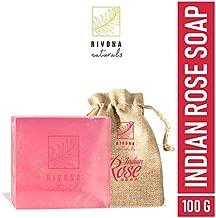 Rivona Naturals Indian Rose 100% Natural Organic Handmade Luxury Bath Soap | Paraben & Sulphate Free - 100 g