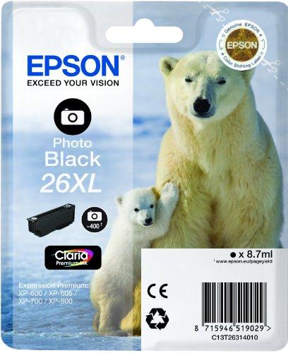 Epson 26XL - tamaño XL - Photo Negro - original - cartucho de tinta
