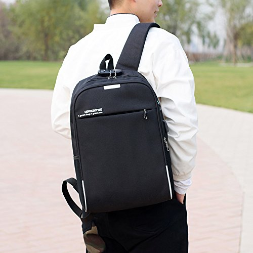 Travel Laptop Backpack, Business Anti Theft Durable College School Backpack, Hiking Backpack Casual Bookbag with USB Charging Port, Travel Computer Bag for 17 Inch Laptops, Black