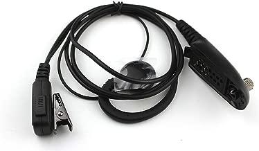 XQF C Shape Swivel Earpiece Headset PTT for Motorola Multipin Radio Ht750 Ht1250 Ht1250ls Ht1550 Ht1550xls Mt850 Mt850ls Mt950 Mt8250 Mt8250ls Mt9250 Etc.