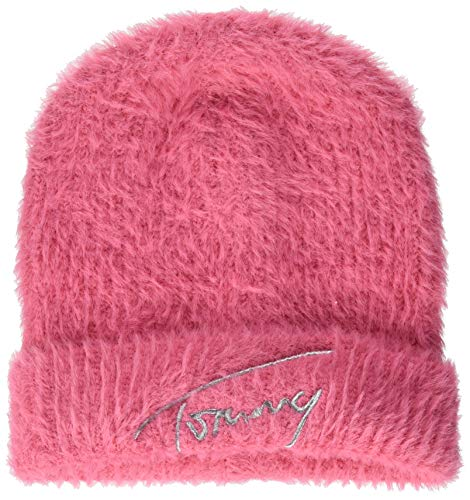 Tommy Hilfiger Tjw Feminine Beanie Cappello, Glamour Pink, OS Donna