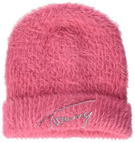 Tommy Hilfiger Damen Tjw Feminine Beanie Hut, Glamour Pink, OS
