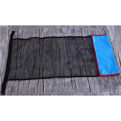 qianele – Chubasquero para piscina, con cubierta de red, duradero, seguro, con tubo de espuma flotante adicional, azul, EIN