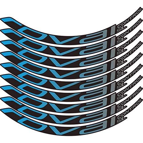 Pegatinas de bicicleta Bicicleta de montaña Control Roval SL29 pulgadas 25 mm Ancho Ancho Conjunto de ruedas Color Pegatina MTB Calcomanías de RIM (Color : Blue gradient)