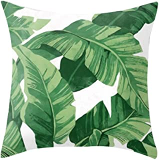 Home Decoration Amaae® Tropical plant polyester pillowcase sofa throwing pad set home decoration(Color:Multicolor, Material:Polyester) Creative Gifts For Kid Child Home Living room,Home
