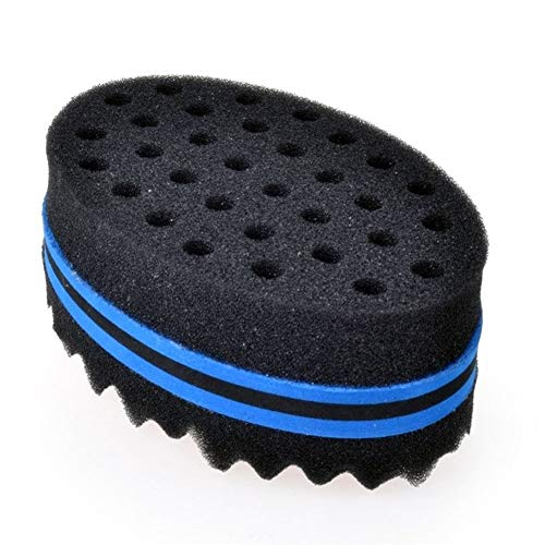 WanBeauty Brosse à éponge, outil à spirale, brosse à éponge magique pour cheveux, brosse à cheveux, outil pour le coiffage d'Afro pour boucles, bobines, Dreadlocks bleu