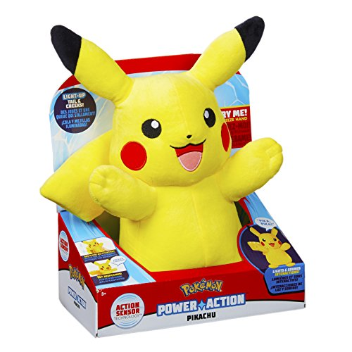 Pokèmon 96383 Power Action Pikachu Juguete, Multicolor Juguete de Peluche