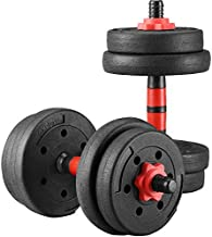 Wesfital Exercise Dumbbells Adjustable Weight 22/33/44/55/66/88LBS Strength Training Barbell for Home Gym