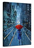 ☔New York Wall Art Size: 24inx36in(60x90cm), wooden stretched bar framed ready and easy to hang. ☔Feature: Gallery wrapped with environmental friendly wooden bar inner and hooks mounted on each panels, simply assemble for wall decor. ☔Ardemy: High de...