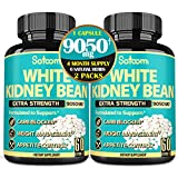 Pure White Kidney Bean Capsules -4 Month Supply- Equivalent to 9050mg of 6 Herbs - Support Carbs Management, Body Building and Starch Blocking- 120 Count