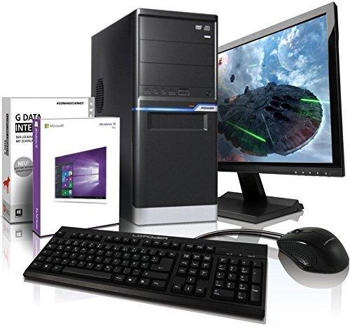 Komplett PC-Paket mit 3 Jahren Garantie | Quad-Core! AMD FX 4100 4X 3800 MHz | 4GB DDR3 | 500GB HDD | AMD Radeon HD 3000 2048 MB mit DirectX11 | 22xDVD±RW | Win10 Prof.64-Bit | 22