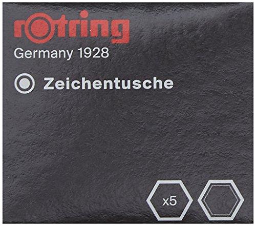 rOtring S0215630 Isograph-Tuschepatronen, 5Stück, schwarz