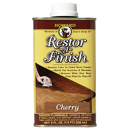 Howard Products RF9008 Restor-A-Finish, 8 oz, Cherry, 8 Fluid Ounces