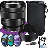 Sony Vario-Tessar T FE 24-70mm f/4 ZA OSS Interchangeable Full Frame Zoom Lens + Lens Hood + Lens Pouch + 3 Piece Filter Kit and Lens Cleaning Kit