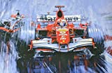 Michael Schumacher'Final Victory' Print by Artist Nicholas Watts 28'x24'