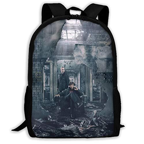 Detective Sher-lock - Mochila de viaje ligera para la escuela, para la universidad, resistente al agua, mochila de ordenador para niños y niñas