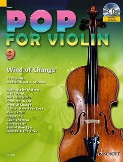 Pop for Violin banda 9Incluye CD–12divertido Canciones de Metallica, The Scorpions etc. para 1–2Violín Arreglados (Notas)