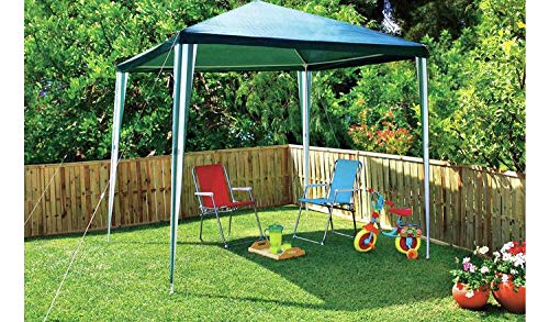 Groundlevel 3 x 3 M Easy Build Pop Up Garden Gazebo, Complete With Handy Carry Bag - Green