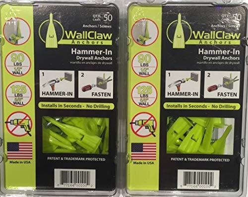 WallClaw Anchors SDWH19400DB-RC12 50Pk (2 Pack)