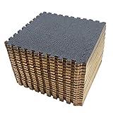 Amazon Brand - Umi - Losas de goma entrelazadas de 30 X 30 cm (Gris oscuro)
