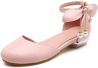 BalaMasa Womens ASL06374 Pu Block Heels