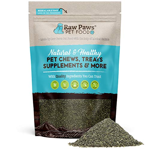 Raw Paws Pet Organic Sea Kelp for Dogs & Cats, 8-oz Seaweed Powder - Icelandic Kelp Supplements for Dogs Supports Thyroid Function - Dried Ocean Kelp for Dogs