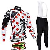 ZYQZYQ Conjunto De Jersey De Ciclismo De Manga Larga Babero Ropa De Ciclismo Ropa De Bicicleta MTB Bike Jersey Uniforme Ropa De Hombre,D-S