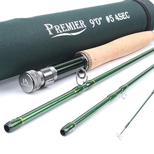 CNGYY 3/4/5/6/7/8/9/10/12 WT Fly Rod Fibra De Carbono Acción Rápida Fly Fishing Rod con Cordura Tube Fly Fishing Rod